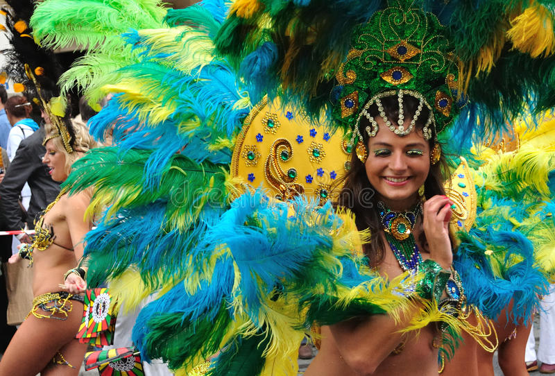 Download Carnival Parade in Warsaw editorial stock image. Image of exotic - 12428849