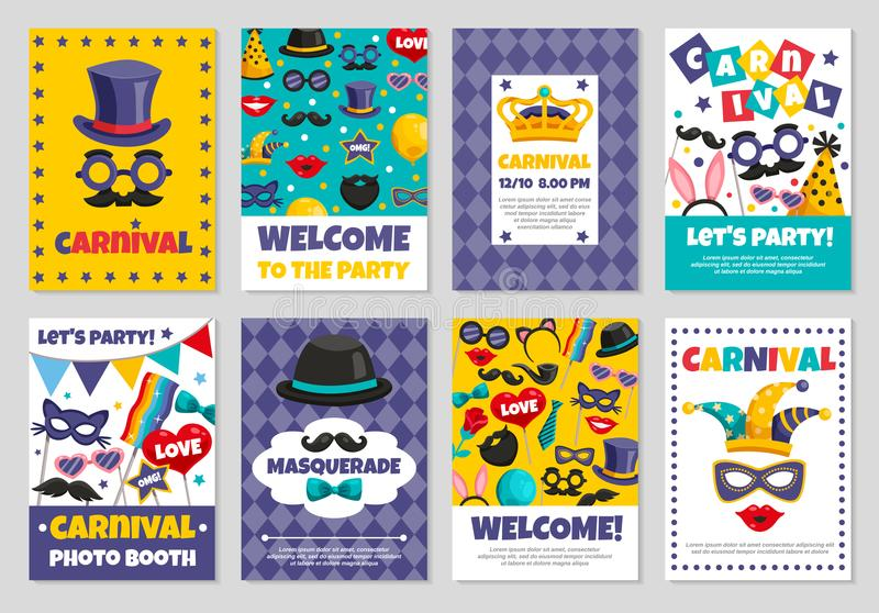 Carnival Party Banners stock illustration
