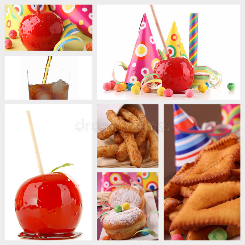 Carnival Pastry And Toffee Apple Royalty Free Stock Image