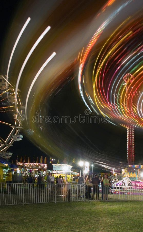 Free Carnival Ride And Background Activity Royalty Free Stock Image - 1193546