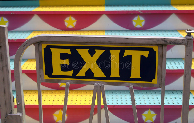 Download Carnival Ride Exit Sign stock image. Image of festival - 194787