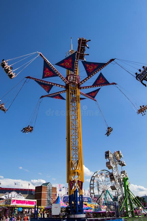 "Free Carnival Ride Named ""Vertigo"" Royalty Free Stock Images - 73745109"