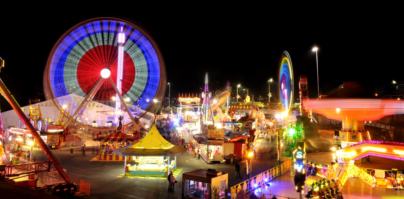Carnival rides. royalty free stock photo