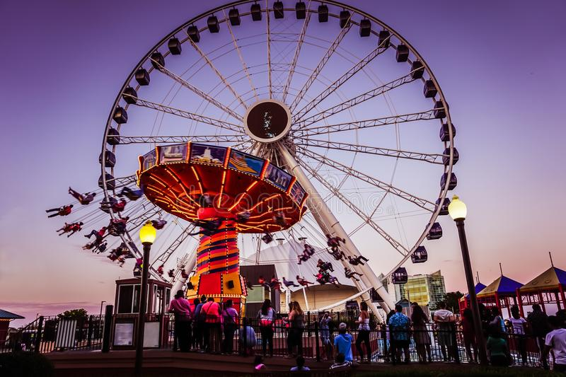 Carnival Rides - Navy Pier stock images