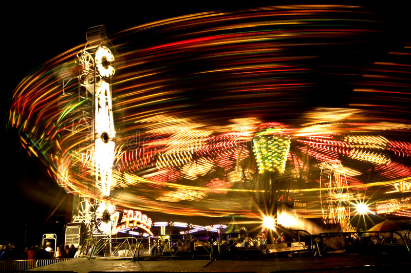 Download Carnival rides at night stock image. Image of colours - 6251135
