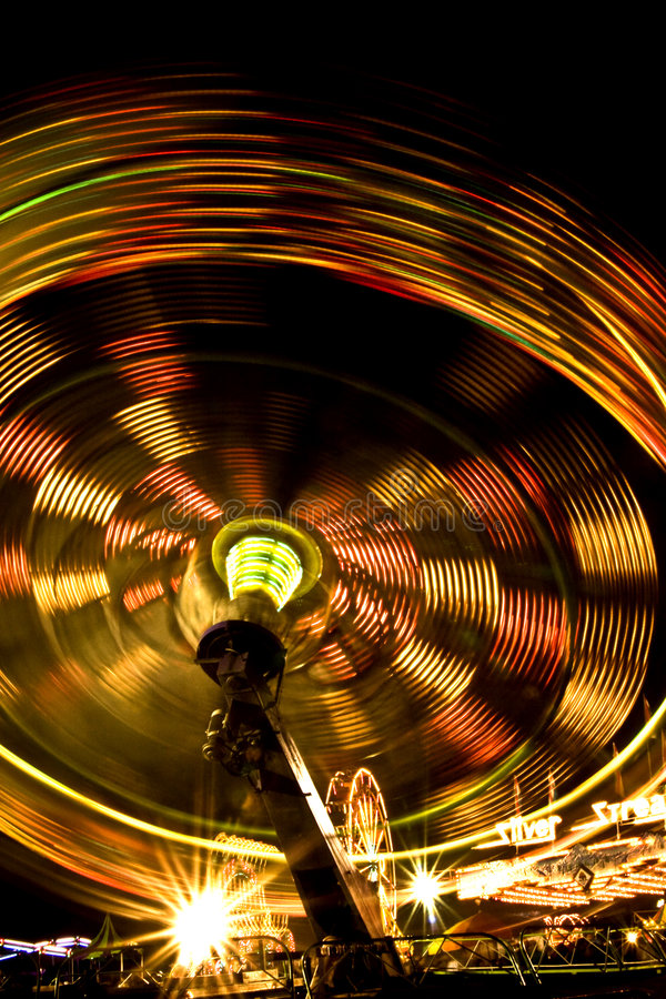 Download Carnival rides at night stock image. Image of colorful - 6251223