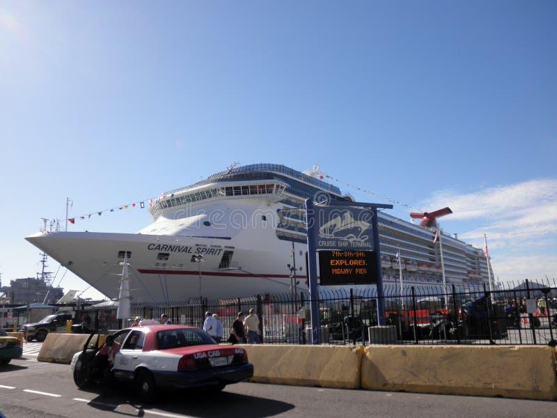 Download Carnival Spirit Cruiseship In Port Editorial Image - Image of blue, large: 21826470