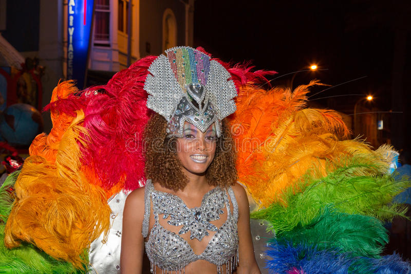 Carnival of summer in Mindelo, Cape Verde royalty free stock photo