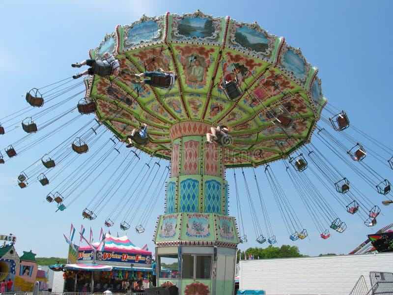 Carnival Swinger Ride stock photography