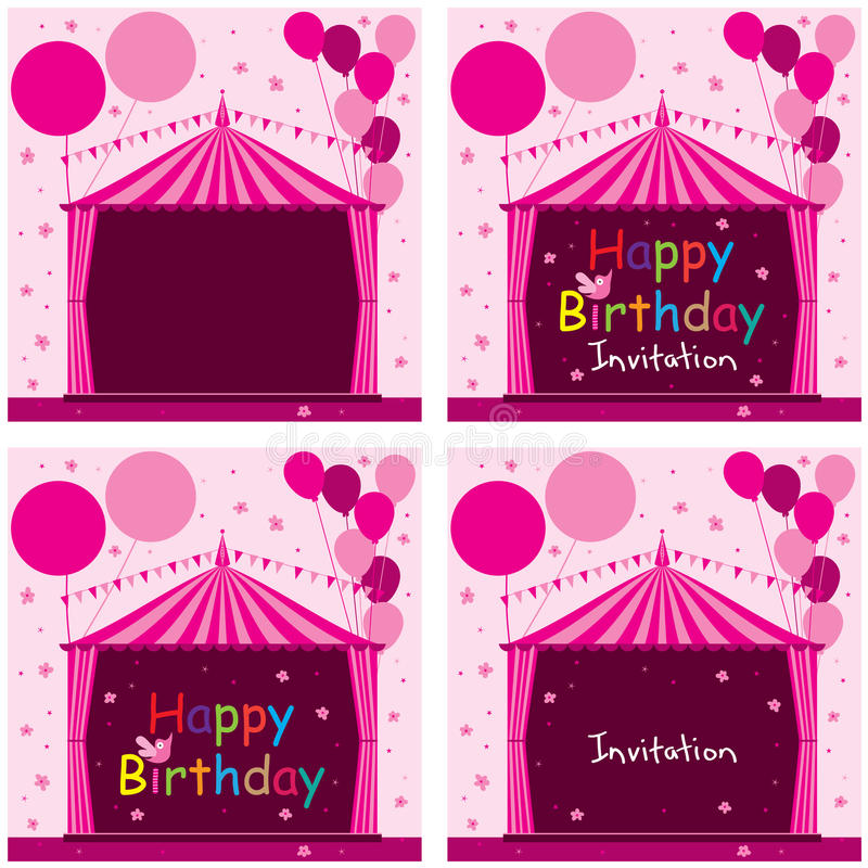 Download Carnival Tent Circus Pink Birthday Invitation Set Stock Vector - Illustration of copy amusement  sc 1 st  Dreamstime.com : pink circus tent - memphite.com