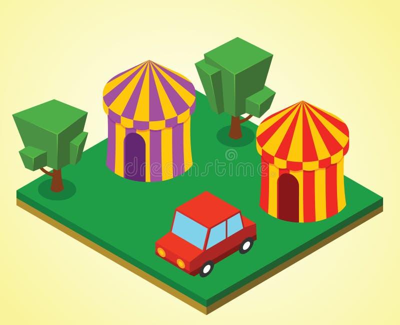 Carnival tent vector illustration