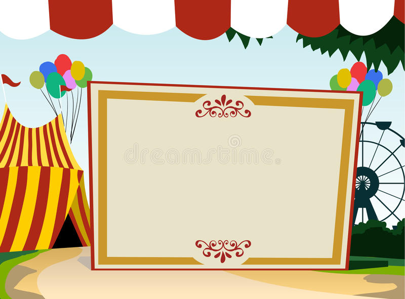 Carnival theme blank board stock illustration