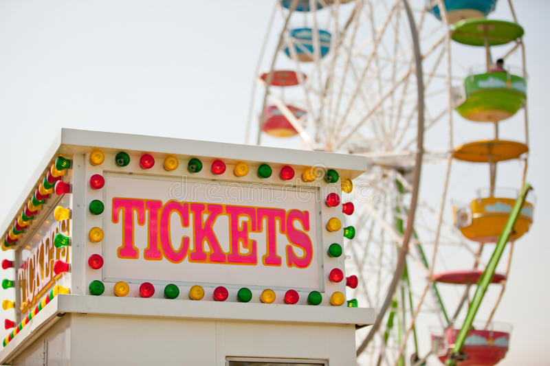 Carnival Ticket Booth stock images