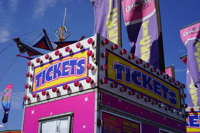 Carnival ticket sales booth royalty free stock photos