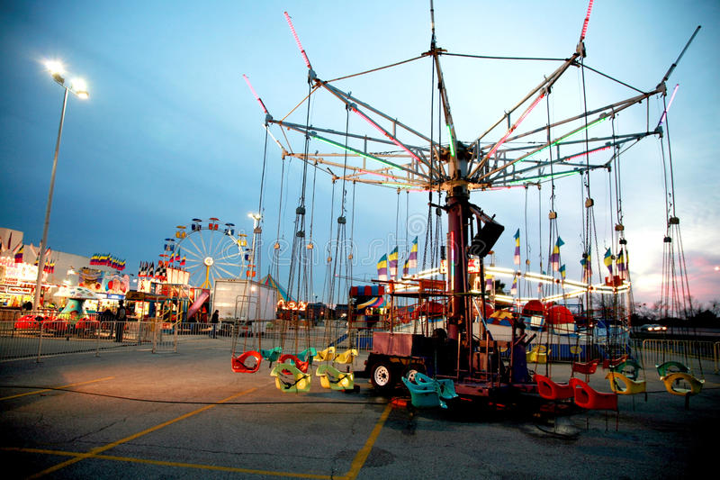 Download Carnival at Twilight stock photo. Image of carnival, blue - 13302754
