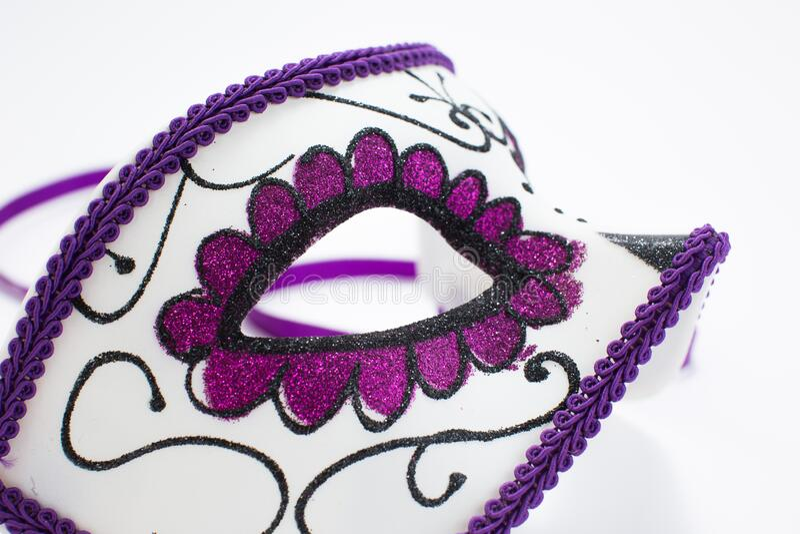Carnival Venetian mask isolated on white background.  stock photos