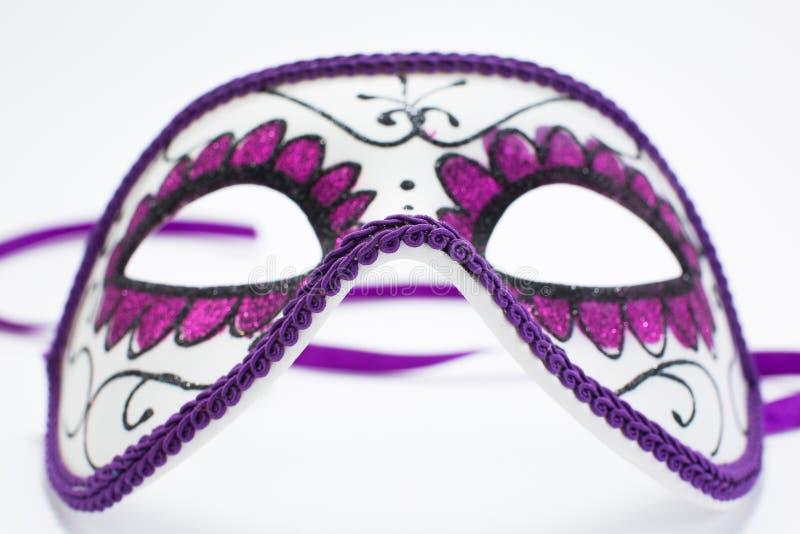 Carnival Venetian mask isolated on white background.  stock photography