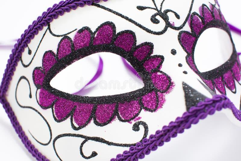 Carnival Venetian mask isolated on white background.  stock images