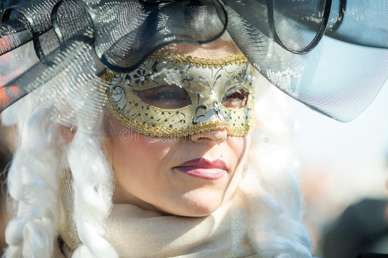 Carnival of Venice masks stock images