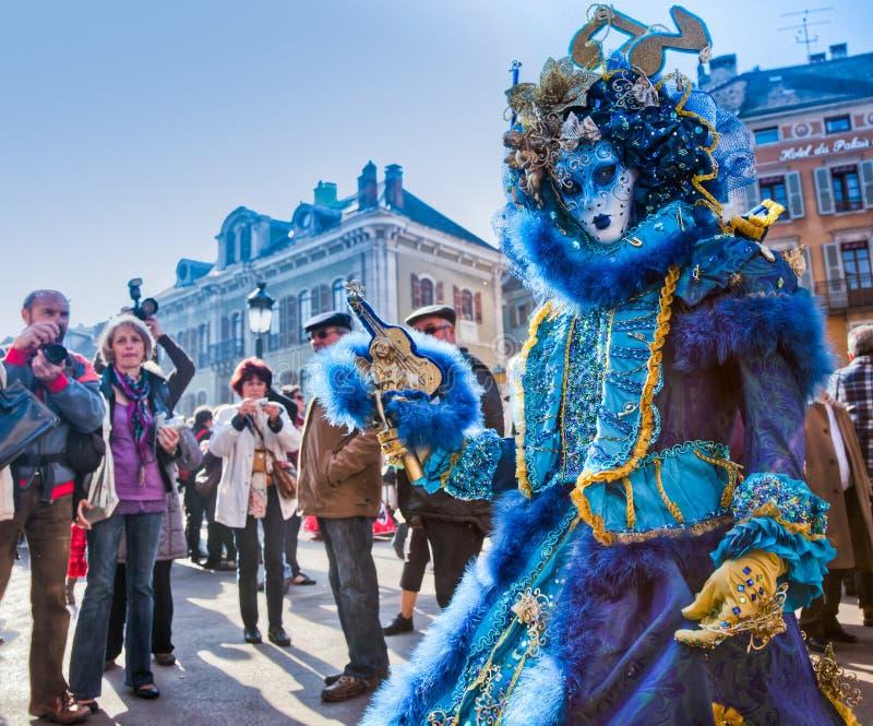 Carnival Venitien d' Annecy 2012 stock photos