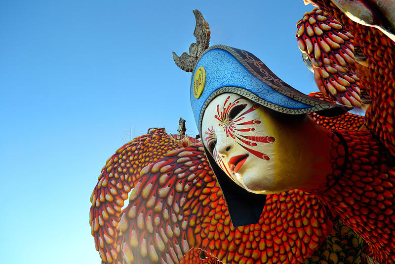 Carnival in Viareggio, Italy stock image