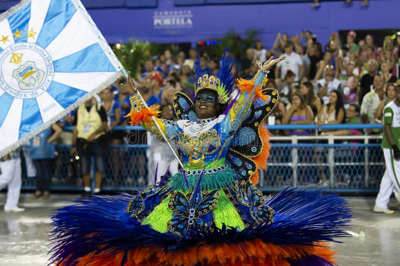 Carnival 2019 - Vila Isabel royalty free stock photo