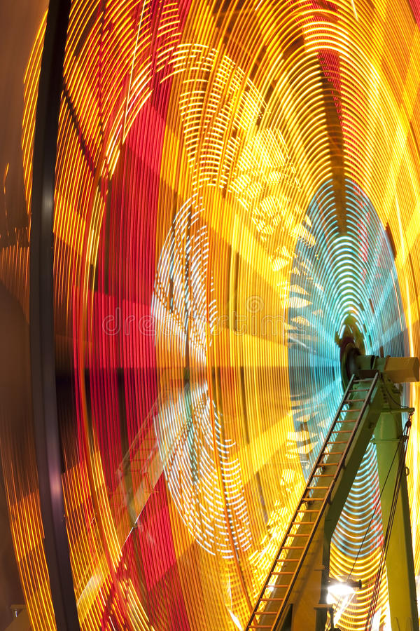 Download Carnival wheel in motion stock image. Image of ride, circles - 13677241