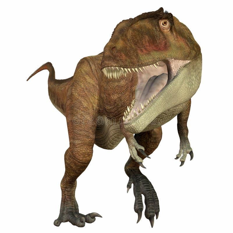 Carnivore de Carcharodontosaurus illustration stock