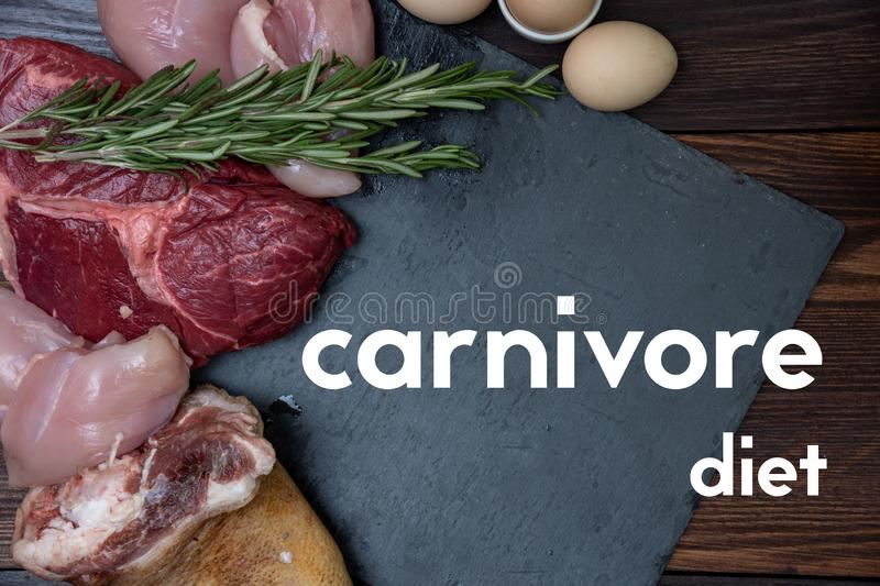 Carnivore will flach essen stockfoto