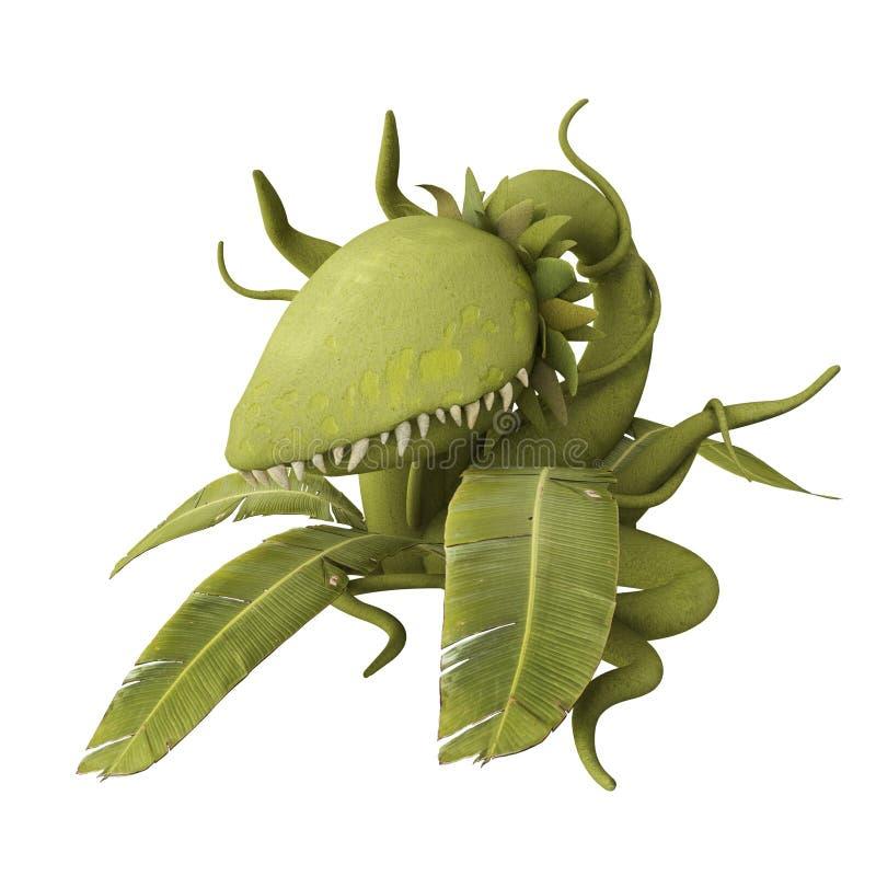 carnivorous växt royaltyfri illustrationer
