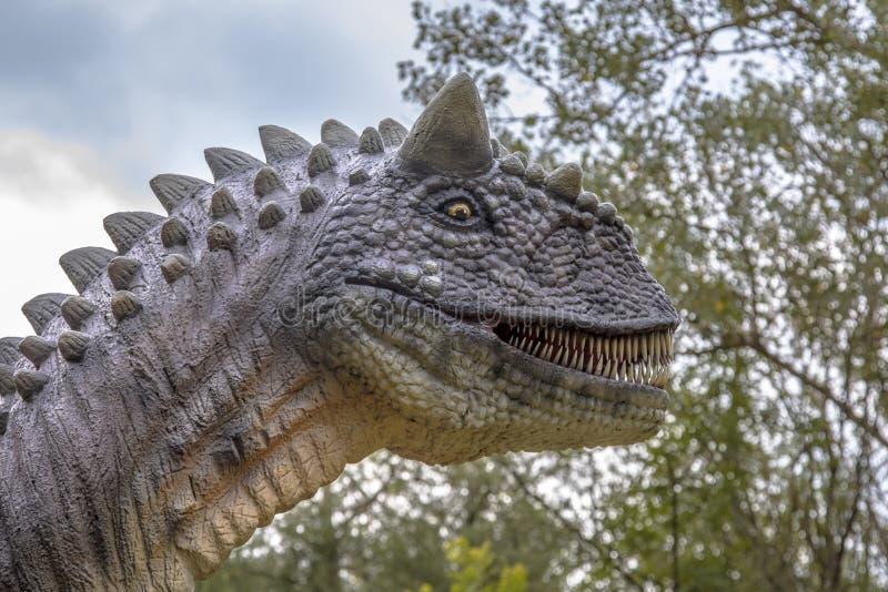 Carnosaurus portret fotografia royalty free
