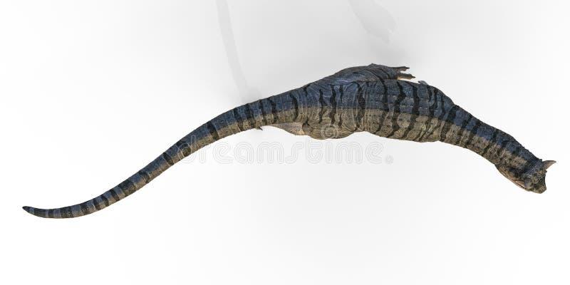 Carnotaurus à un arrière-plan blanc illustration de vecteur