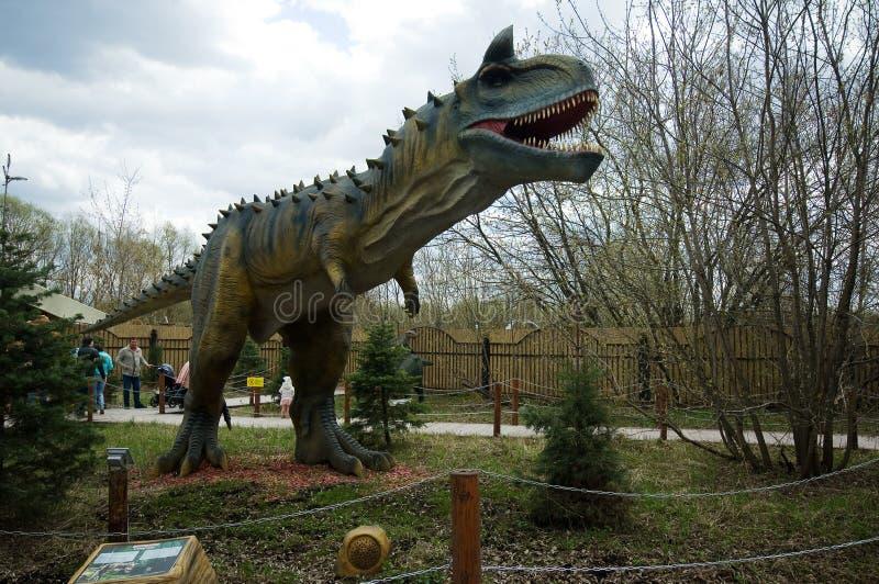 Carnotaurus στο πάρκο δεινοσαύρων, Μόσχα, Ρωσία στοκ εικόνα με δικαίωμα ελεύθερης χρήσης