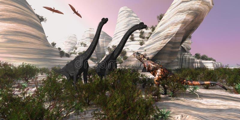 Carnotaurus illustration stock