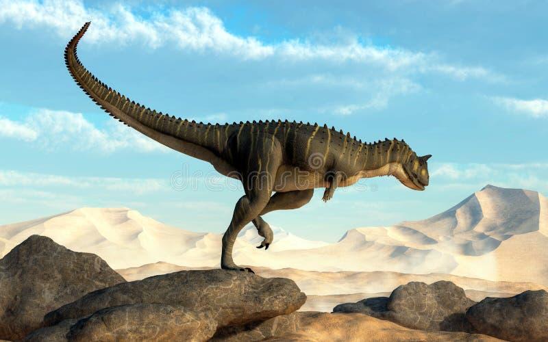 Carnotaurus del desierto ilustración del vector
