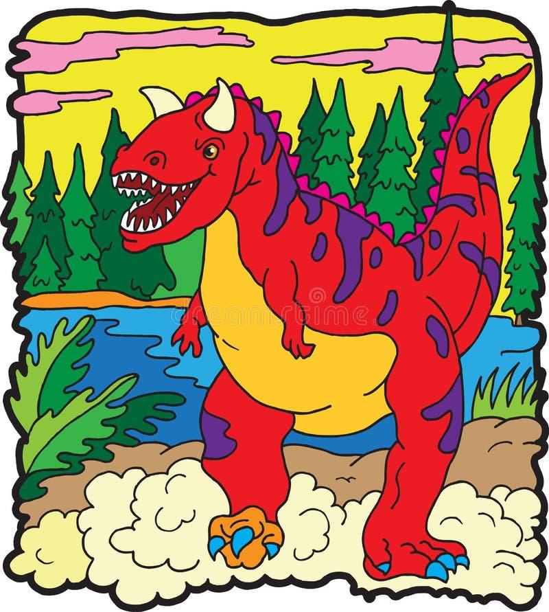 Download Carnotaurus dinosaur ilustracja wektor. Obraz złożonej z kreskówka - 8734828