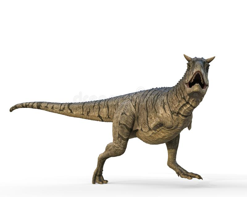 Carnotaurus em um fundo branco ilustração royalty free