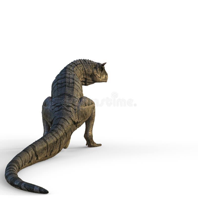 Carnotaurus em um fundo branco ilustração do vetor