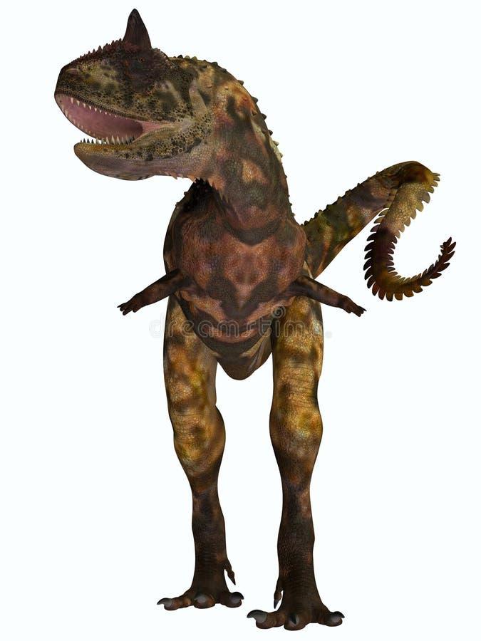 Carnotaurus Front Profile ilustración del vector
