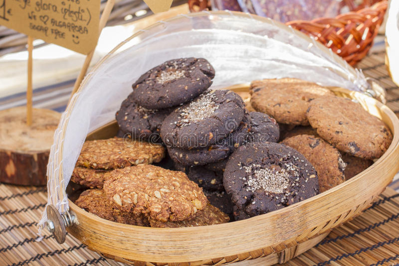 Carob biscuits royalty free stock image