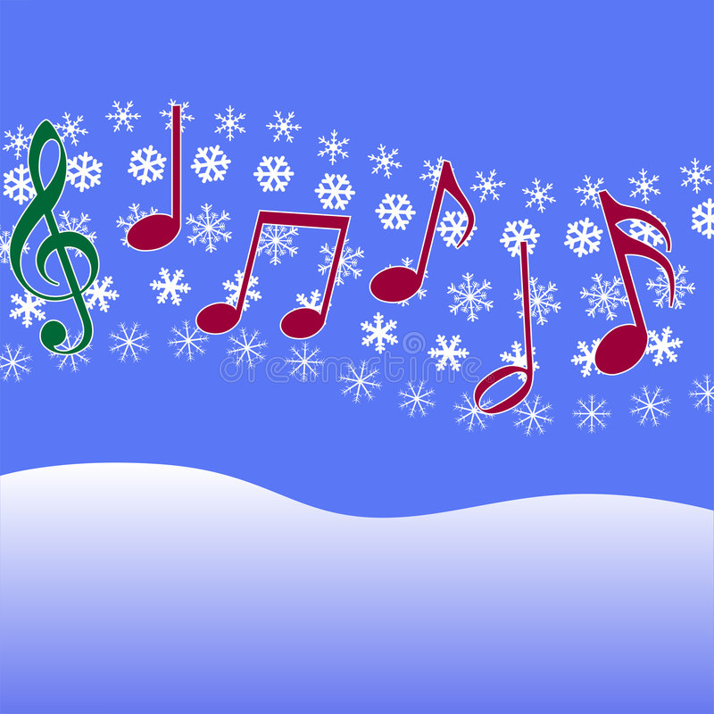 carol świątecznej muzyki śnieg ilustracji