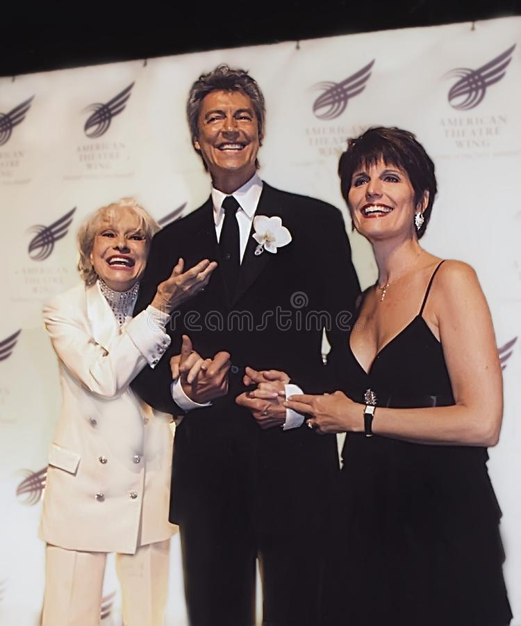 Carol Channing, Tommy Tune, e Lucie Arnaz fotografia de stock royalty free