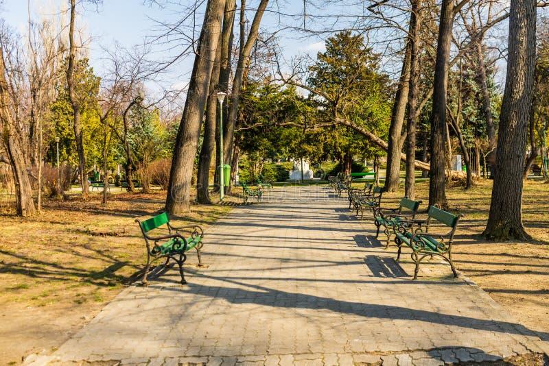 Carol Park a Bucarest, Romania Vicolo vuoto fotografie stock libere da diritti