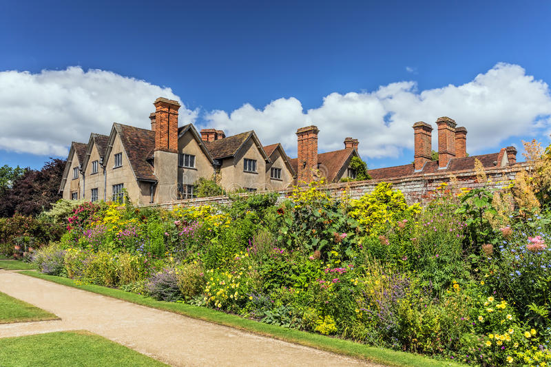 Carolean ogród, Packwood dom, Warwickshire, Anglia fotografia royalty free