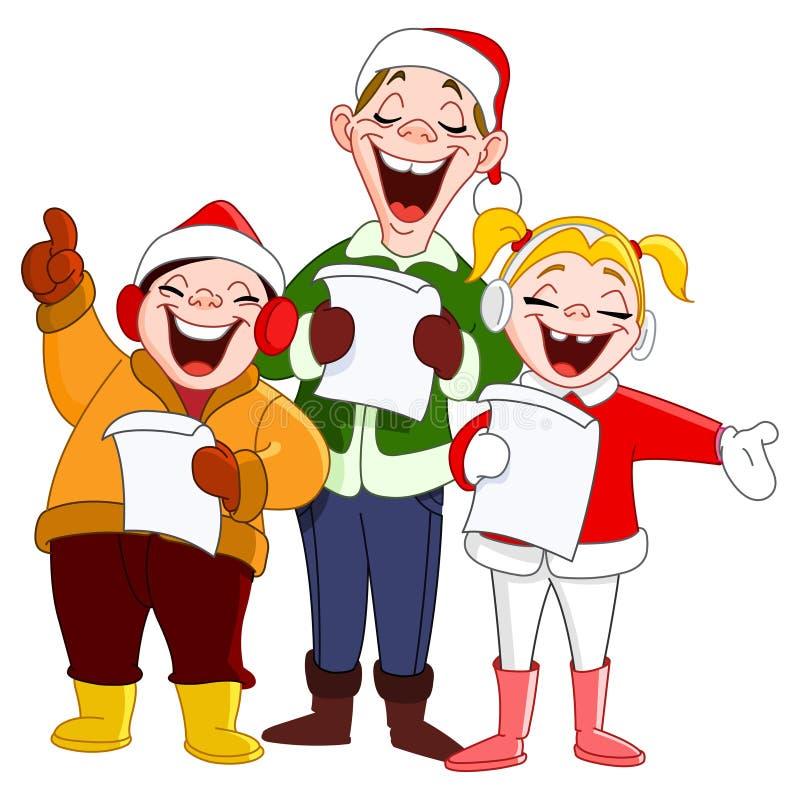 Carolers van Kerstmis royalty-vrije illustratie