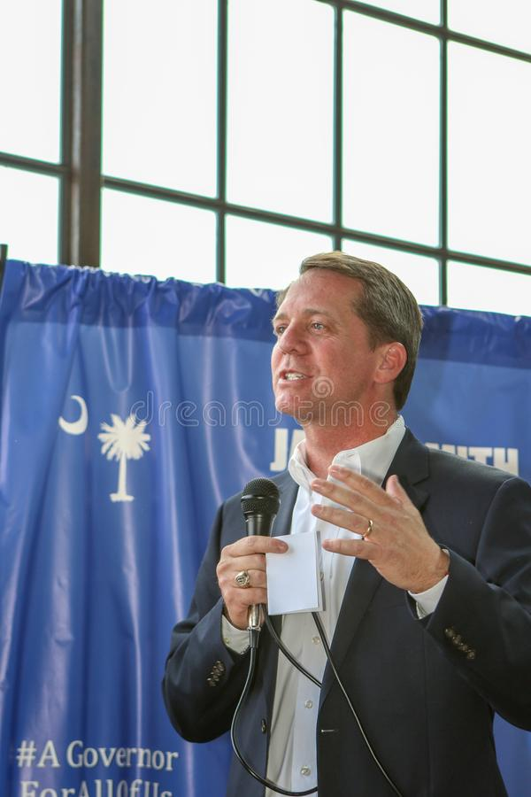 Carolina Democratic Gubernatorial Candidate James sul Smith fotos de stock