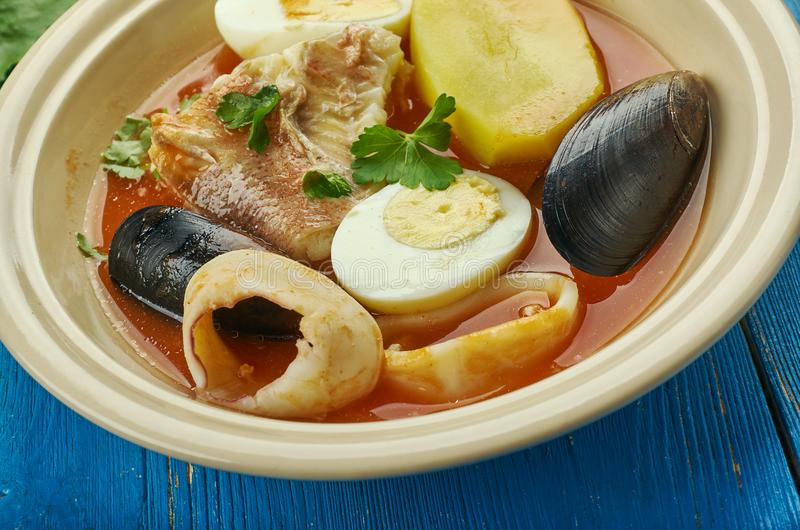 Carolina Fish Muddle. American delicious seafood stew stock photography
