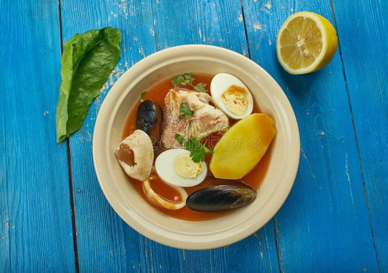 Carolina Fish Muddle. American delicious seafood stew royalty free stock photos