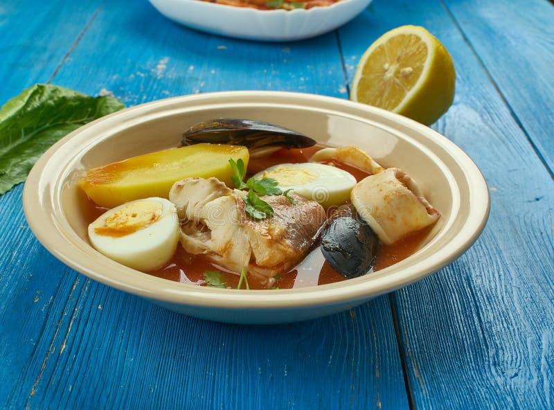 Carolina Fish Muddle. American delicious seafood stew royalty free stock photo