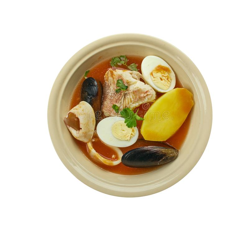 Carolina Fish Muddle. American delicious seafood stew stock images